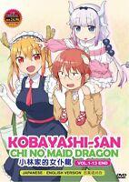 DVD Anime Kobayashi-san Chi No Maid Dragon Complete Series (1-13) English Dubbed