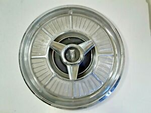 """1965 Plymouth Spinner Hub Cap 14"""" Stainless With Chrome Center   -H261"""