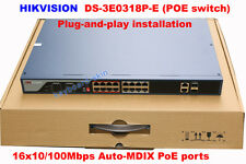 Hikvision DS-3E0318P-E 16ports 16x10/100Mbps Auto Unmanaged PoE Network Switches
