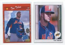 Tim Tebow ACEO cards. New York Mets. 2 card lot. + 5 Mets bonus cards.
