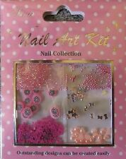 """Nail Art Kit 08"" 3D  Set  dekoration  Blüten - Perlen - Strass - Glitter...TOP"