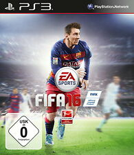 SONY PS3 FIFA 16 PlayStation 3 Fussball MEssi & Alaba amCover fussball spiel oVP