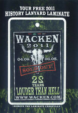 Wacken - Pass 2011 - 22 Years Louder Than Hell - wie Bild