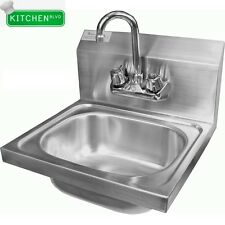 """Extra Wide Wall Mount 20""""x17"""" Hand Sink. 7-3/4"""" Deep (No Lead Faucet)"""