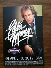 Eddie Money ad/flyer  NYC BB.Kings concert 2012