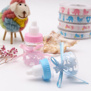Baby Shower Candy Bottle Blue Pink Party Decorations Gift Girl Boy 6/12 Pcs