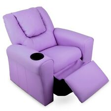 Kids Armchair PU Leather Recliner Sofa Chair Child Toddler Drink Holder  Gift NEW