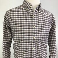 PETER MILLAR CROWN VINTAGE LONG SLEEVE PLAID BUTTON DOWN SHIRT MENS SIZE XL