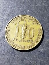 1957 French West Africa 10 CFA Francs (Togo) Coin #331