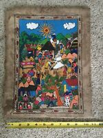 South American Or Latin Painting Village Celebration one Of A Kind