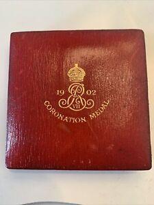 1902 EDWARD VII ROYAL MINT CORONATION OFFICIAL 55mm BRONZE MEDAL ORIGINAL BOX