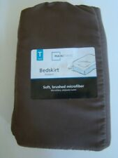 "Twin Bedskirt Dark Brown Soft Brushed Microfiber NEW  39"" x 75"" x 14"" Mainstays"