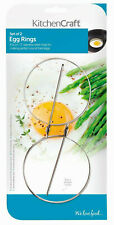 2 x KitchenCraft Stainless Steel Round Egg Rings Frying Cooking Utensils 8.5 cm