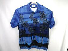 Island Tropics Men's Button-up Hawiian Short Sleeve Shirt size XL blue