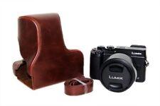 PU Leather Camera Case Bag for Panasonic Lumix DMC-GX8 14-140mm Lens Camera