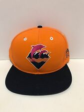 RARE PINK DOLPHIN Waves Orange Snapback 100% AUTHENTIC