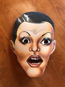 THE ROCKY HORROR SHOW - Rare 1974 Souvenir MASK Roxy Theatre TIM CURRY