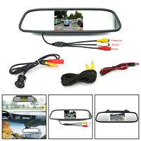 """8 LED Voiture Caméra Recul + 4.3"""" Car Moniteur de voiture Kit Vehicle System AF"""