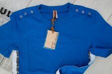 JOHN GALLIANO Fitted Eyelet T Shirt, Cotton Medium IT 48 Blue