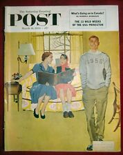 THE SATURDAY EVENING POST MARCH 14, 1953 -  GEORGE HUGHES COVER - DESERT LEGION