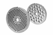 Perforated disc set for all meat grinders sizes 7 / 0 787/10000in,0 1/5in