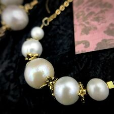 Big 11 mm Freshwater Pearl Pendant Necklace Gold Plated Stainless Steel Chain