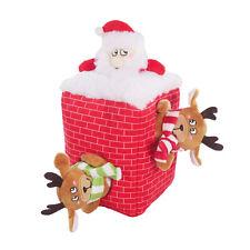 Rosewood Festive Peek-a-boo Santa Dog Toy - 3 Squeaky Characters