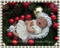 "BABYDOLL HANDKNIT DESIGNS KNITTING PATTERN CHRISTMAS ANGEL SET 7-12"" 16-22"" DOLL"