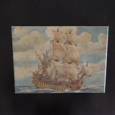 Bateau voilier corsaire sailboat corsair vintage art déco toile canvas France