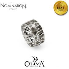 Anello donna Nomination Xte 043500 acciaio argento quadrifoglio fiore zirconi
