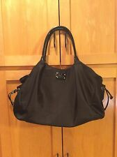 Kate Spade Black Stevie Diaper Bag Euc Green Accents
