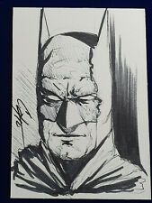 ORIGINAL ACEO Art Sketch BATMAN Trading Card