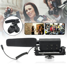 Photography Mic Shotgun Interview Video Microphone For Nikon Canon Camera DSLR