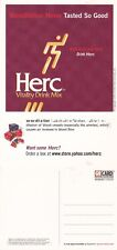 HERC VITALITY DRINK MIX UNUSED ADVERTISING COLOUR POSTCARD (a)