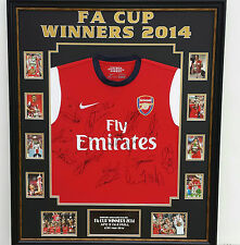 ** FA CUP WINNERS Arsenal Signed Shirt with AFTAL DEALER COA ***