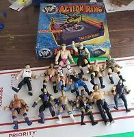 WWF Action Ring Playset  Sealed Wrestling WWE Jakks with Wrestling figures dolls