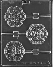 Mothers Day flower Lollipop Chocolate Mold Soap Candy Molds SHIPS SAME DAY m207