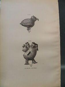 Zuni Pueblo Indians Clay Pottery Baby Bird Effigies New Mexico 1883 #4