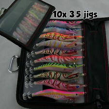 10x Squid Jig 3.5 Multi Egi Color Jig Tackle Bag  Egi Bait Lure Fishing Tackle