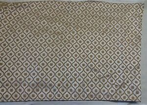 """BED SKIRT Size KING 14 1/2"""" Drop  78 W"""" X 82 L Gold & Ivory Sheen w/ Frogs"""
