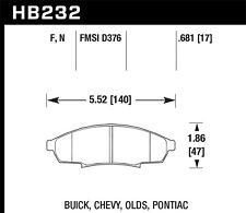 Disc Brake Pad-Custom Front Hawk Perf HB232F.681