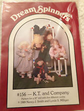 Doll Pattern 5 outfits Dream Spinners #156 K.T. and Company 32 inch 1989 Uncut