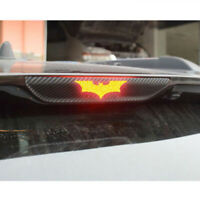 3pcs Car Auto 3D Carbon Fiber Batman Sticker Brake Tail Light Decor Accessories