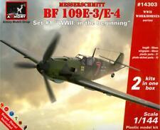 Armory Models 1/144 MESSERSCHMITT Bf-109E-3/E-4 German Fighter 2-in-1 Kit!