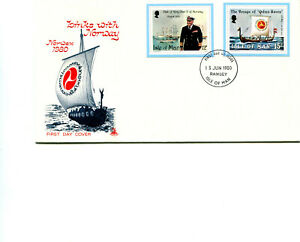 Isle of Man 1980 Links Norway Min Sheet Cutouts FDC cancelled Ramsey