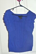 Attention Cable Knit Sweater Womens Size Medium Sleeveless Shirt Top Royal Blue