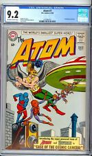 ATOM #7  CGC  9.2 NM-  NICE OW/W PAGES!   HAWKMAN!  COOL COVER! NICE CONDITION!