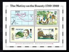 Isola di Norfolk MNH MS464 1989 Bicentenario-ammutinamento sull' Bounty MINISHEET