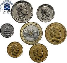 Unzirkulierte Münzen aus Monaco vor Euro-Einführung