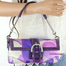 NEW Coach Scarf Print Evening Bag Clutch 3581 Purple Multicolor NEW RARE LIMITED